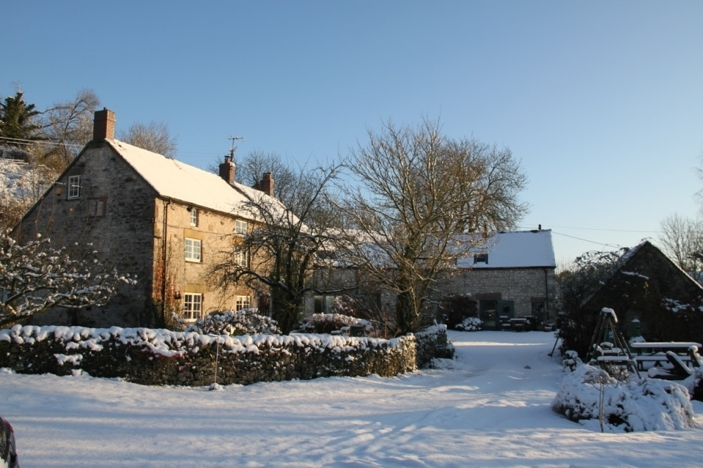 Orchard Farm in snow and sun 2014