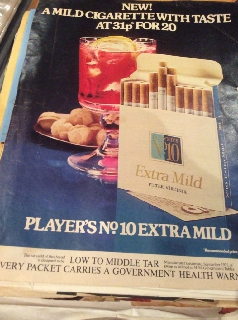 Cigarette Advert in Recipe Section