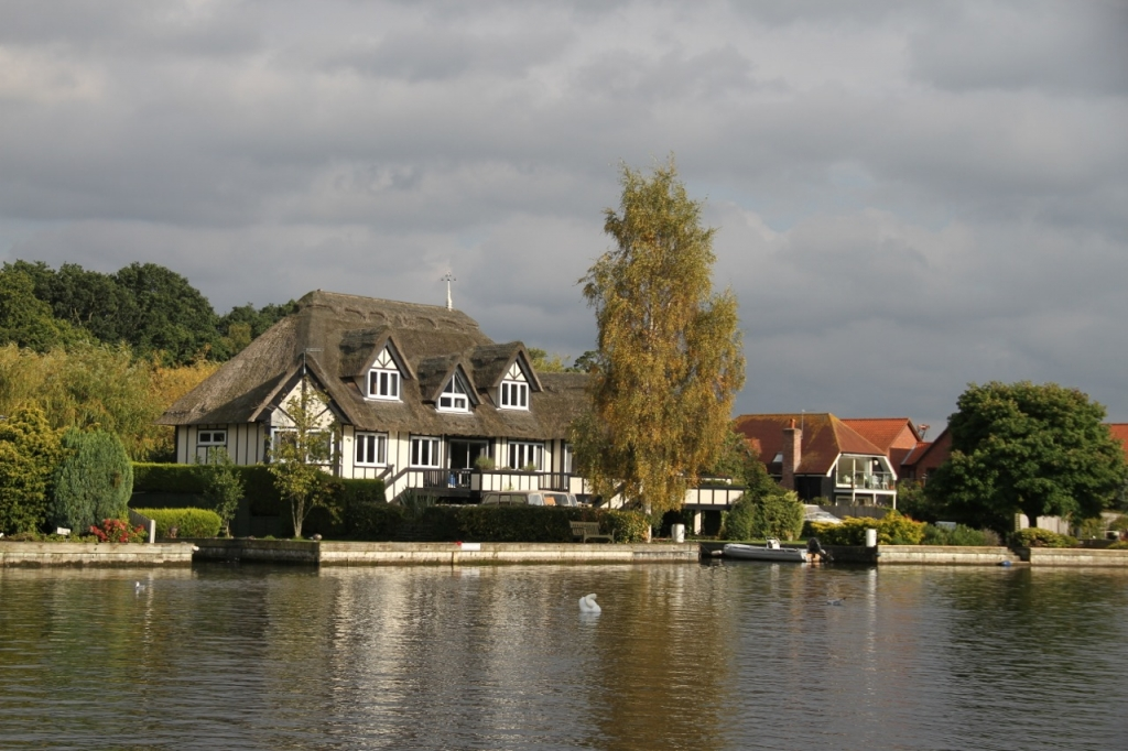 On the River Bure, just coming out of Wroxham