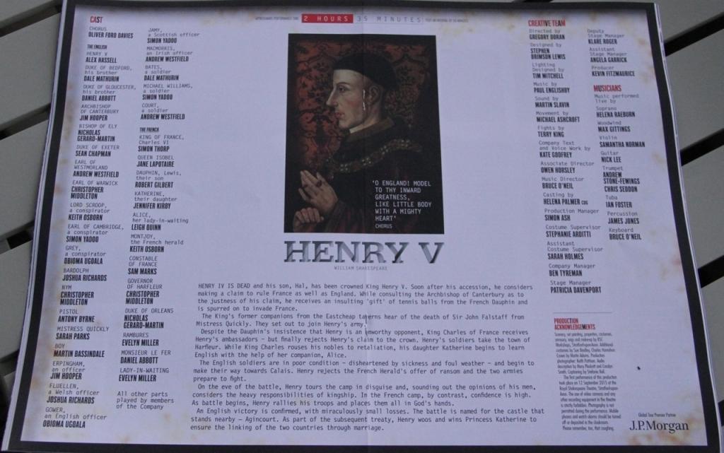Henry V Programme
