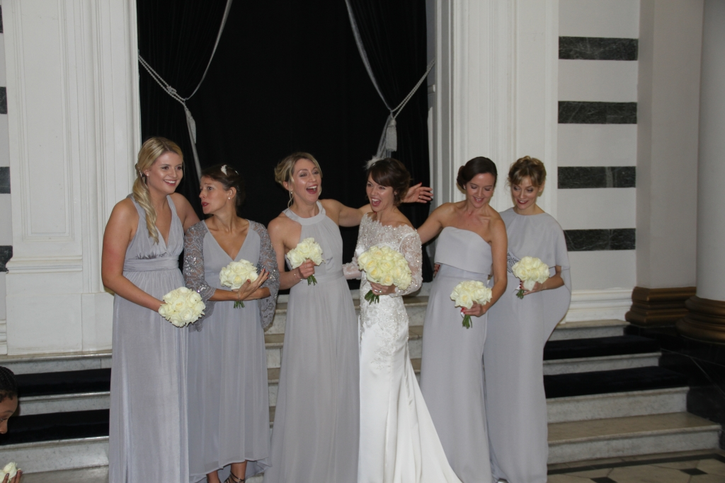Sam and her beautiful bridesmaids