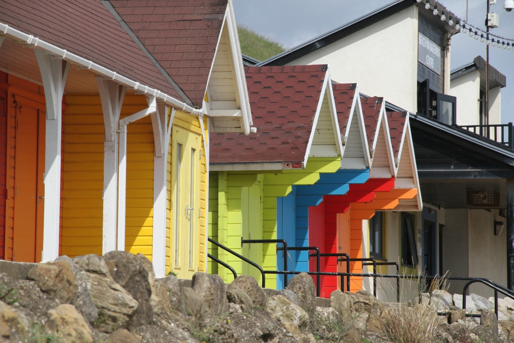 North Bay Beach Chalets, glowing in the sunshine
