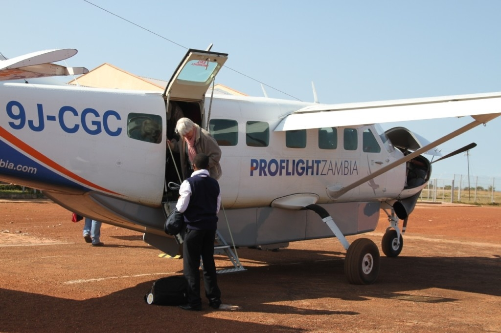 Our Proflight plane to Kasama