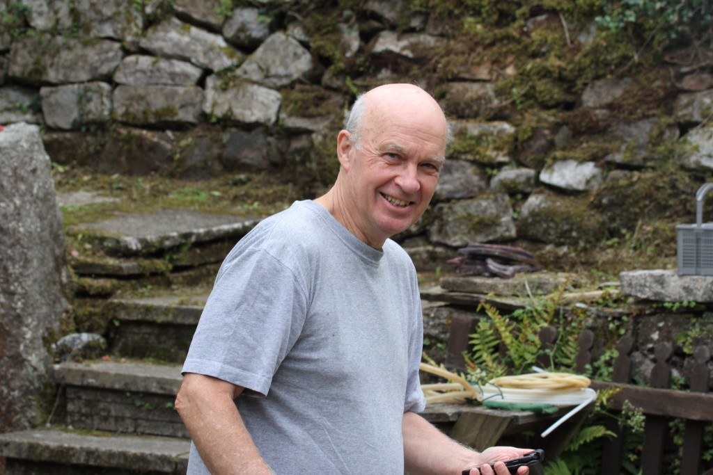 My brother John,  an enthusiastic - and truly excellent - cook!