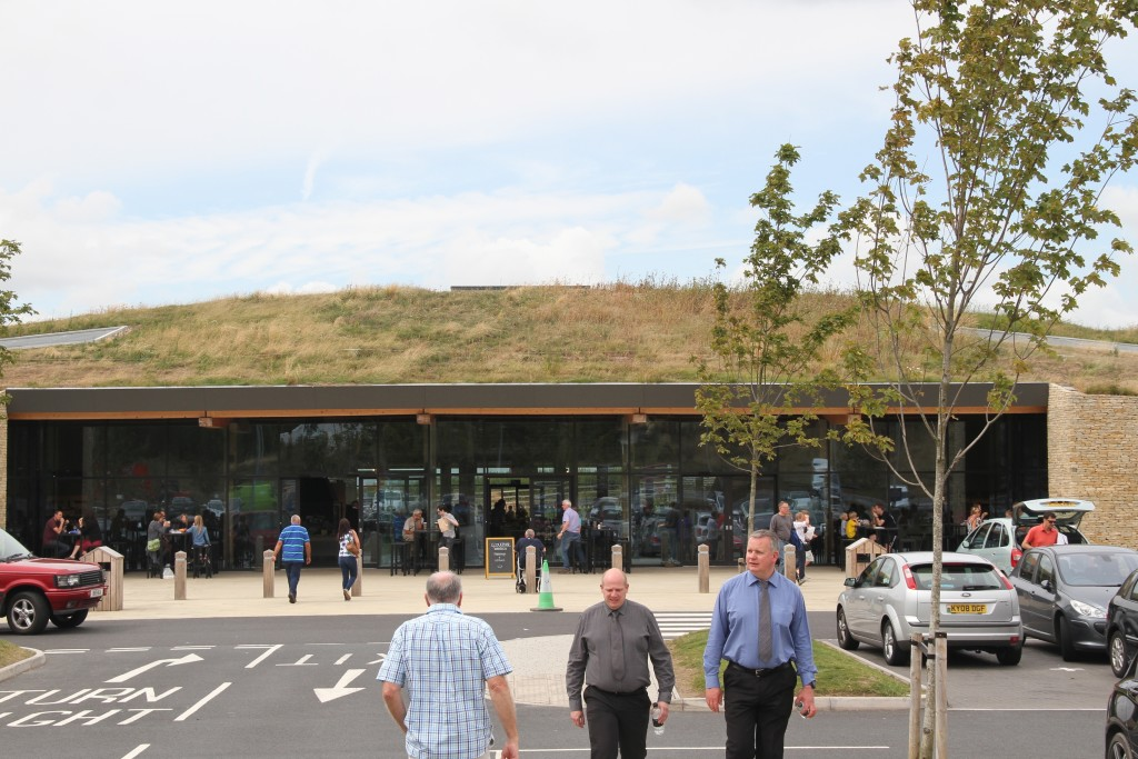 The grass roof is a clue - this is not your usual service station!