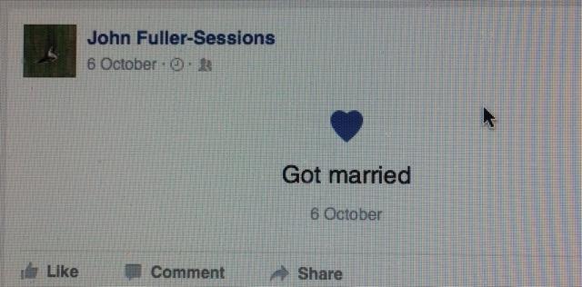John's latest wedding?