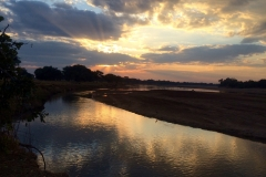 Sunset over the Luangwa River
