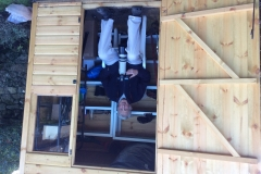 John in our/his garden shed