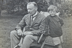 Douglas Hall with his father