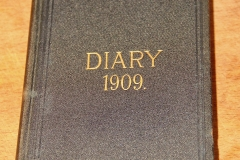 LE Hall's 1909 Diary outside cover