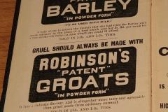 Robinson's Barley ad in 1909 diary