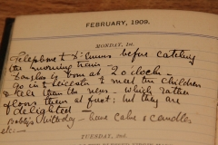 Entry for 1st Feb 1909 dad's birth - Grono's diary