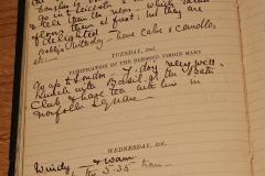 Grono's diary entry of Douglas's birth 1/2/1909