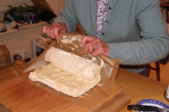 Delicate work - rolling up the roulade
