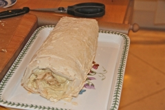 The Roulade waiting for the final decorating