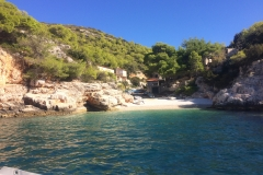 One of the many pretty little coves