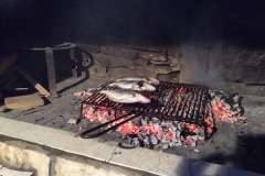 Matko barbecuing Sea Bream for supper