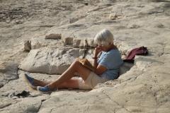 Reading in the sunshine, Srebrna Beach