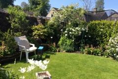 My desk in the garden