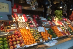 Colourful fruits on sale