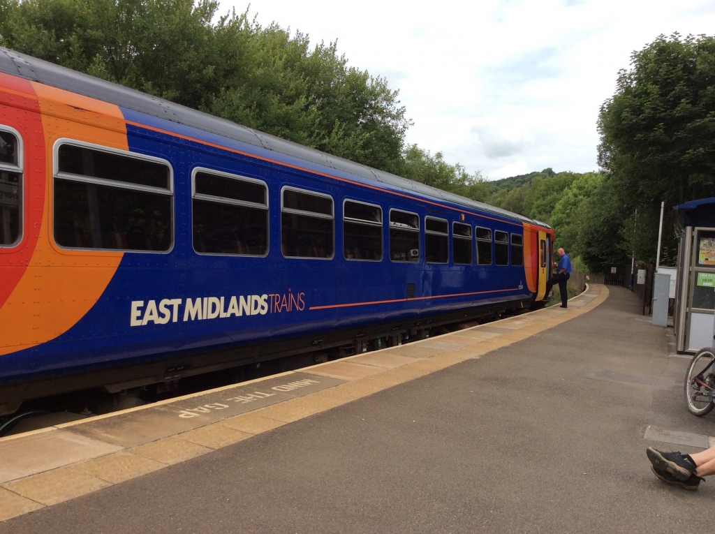 The Matlock to Derby Train
