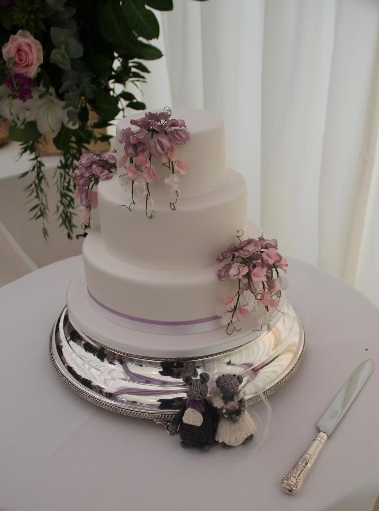 Nicola and Chris\'s wedding cake