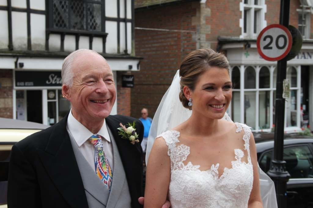 Proud father David and daughter Nicola