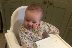 Nell enjoying her greens