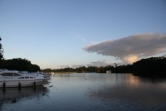 A peaceful mooring at Salhouse (our last night)