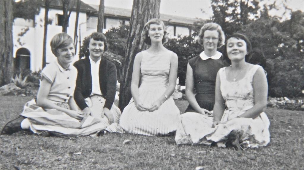 Sue Pollitt, Gerry Moss, Sally McAllister, Barbara Stewart, and Marion Hall