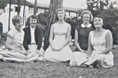 Sue Pollitt, Gerry Moss, Sally McAllister, Barbara Stewart, and Marion Hall