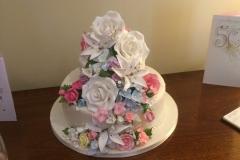 The Wynns' Golden Wedding cake