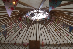 Unusual view of a yurt